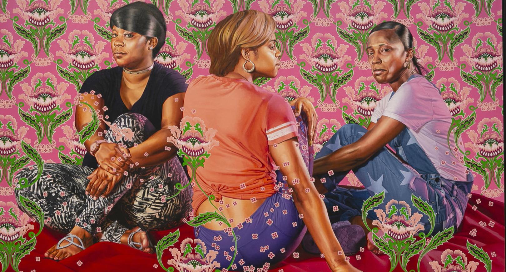 Painting of three women.
