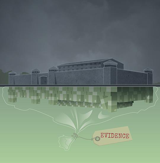 Graphic depicting building.