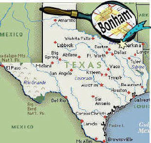 Bonham Texas Map Historic meeting for Bonham City Council | 88.9 KETR