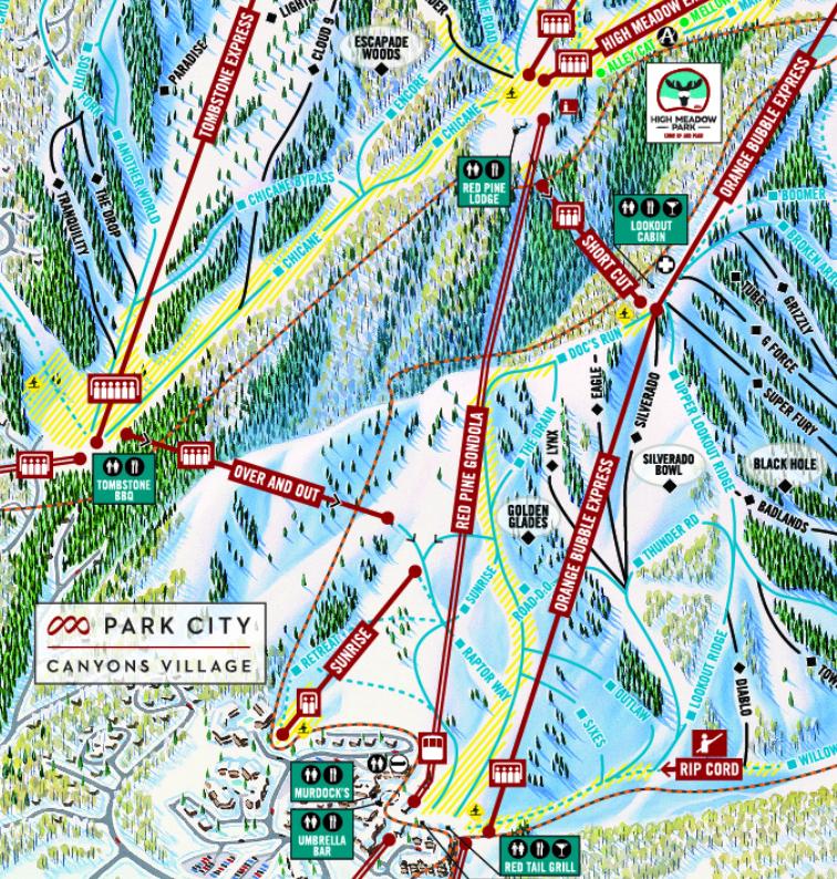 Park City Utah Canyons Trail Map