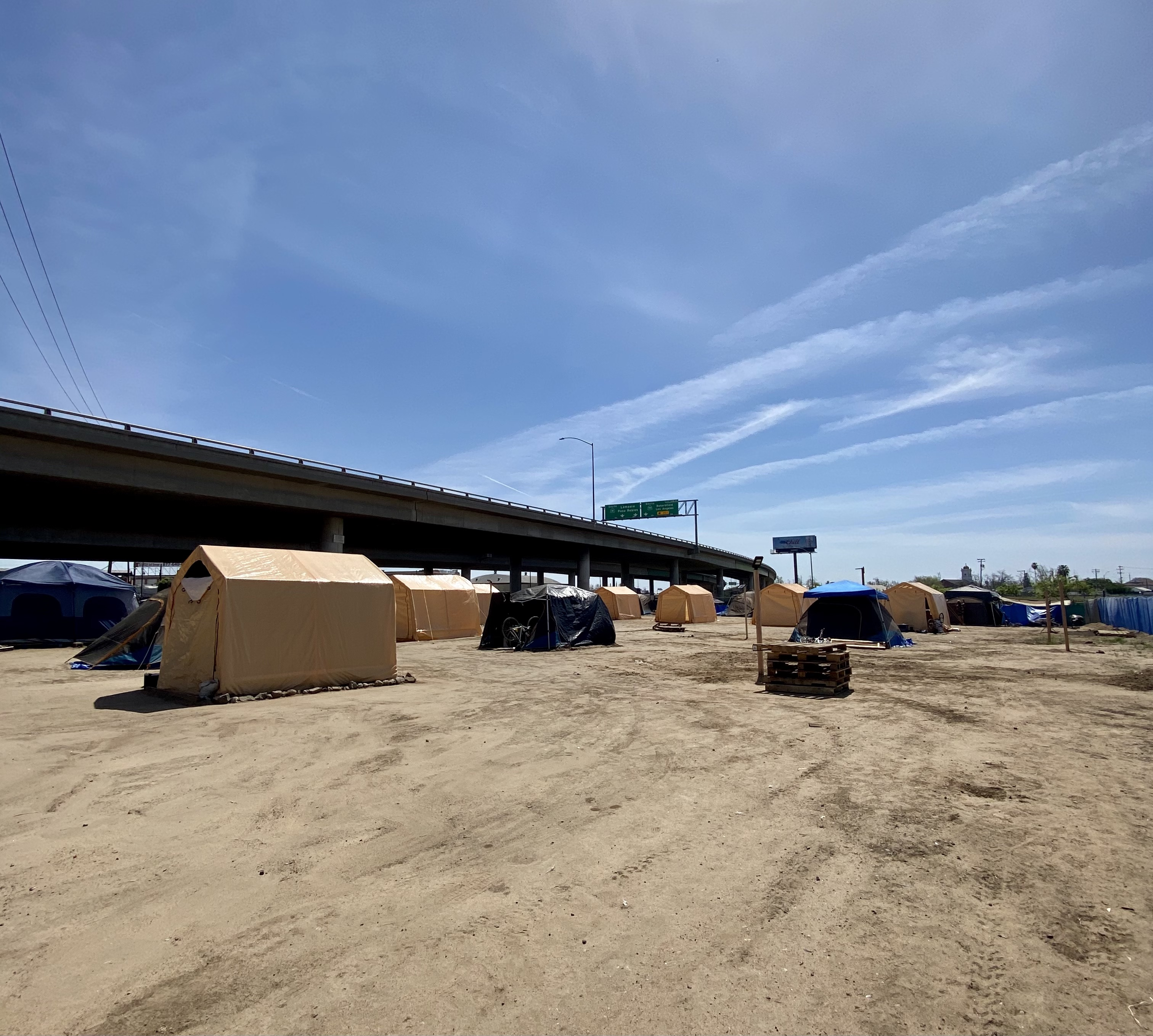 A Fresno Homeless Encampment Wants Help From The City; Meanwhile Community Donations Fill The Gap
