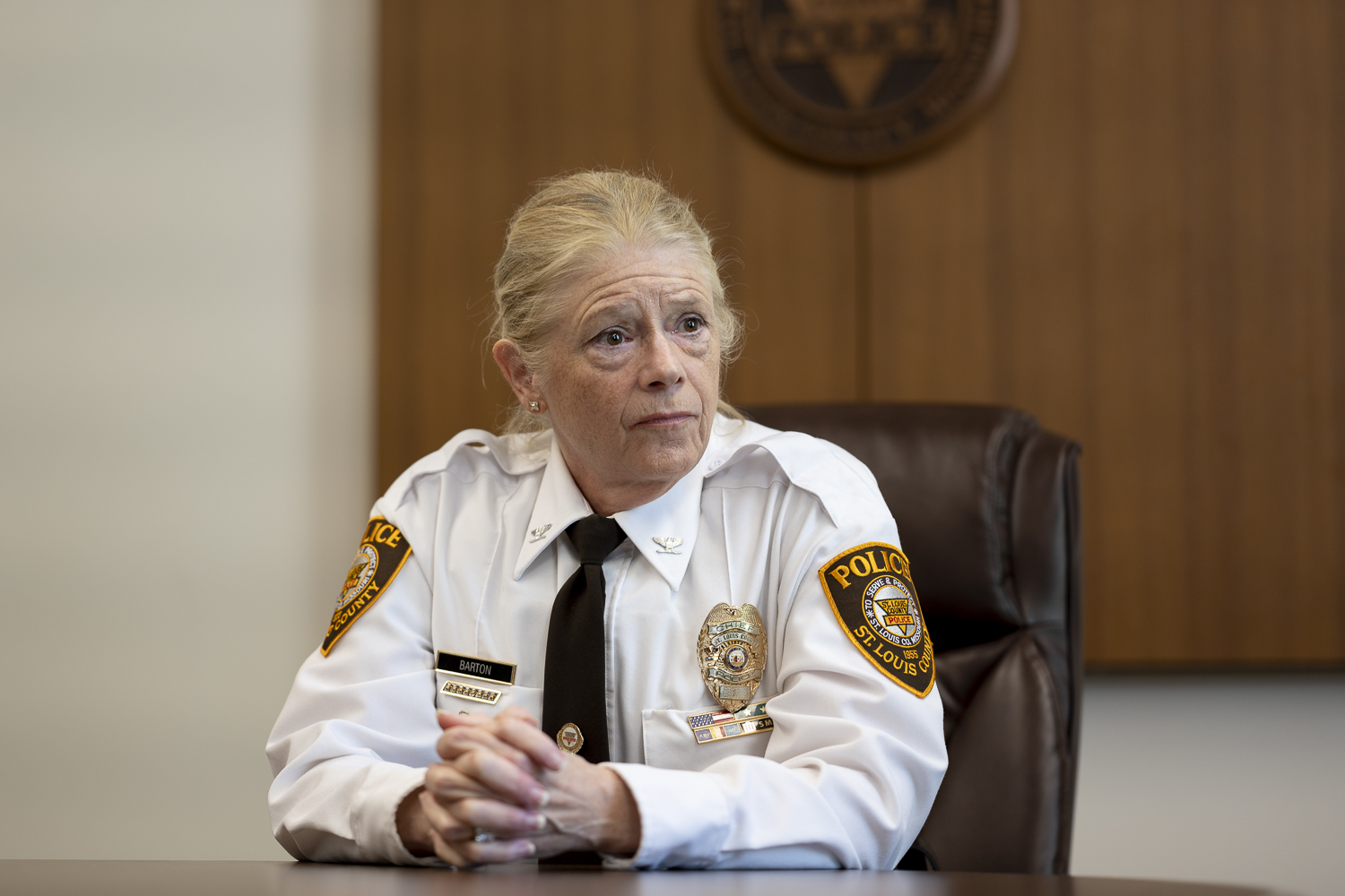 St. Louis County Police Chief Mary Barton Retires