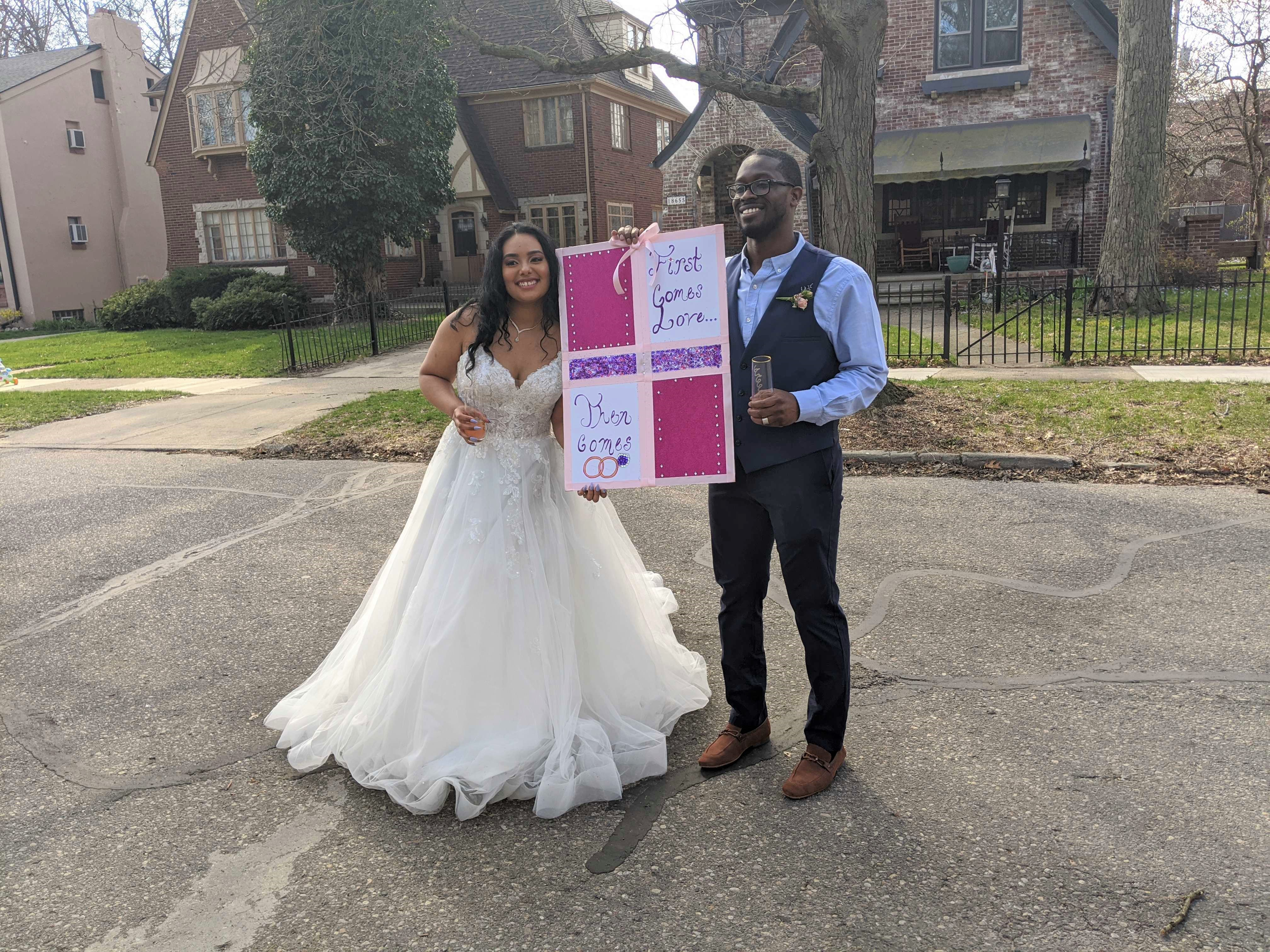 Big Day Small Plans Detroit Couple Gets Creative For Wedding Downsized By Covid 19 Michigan Radio