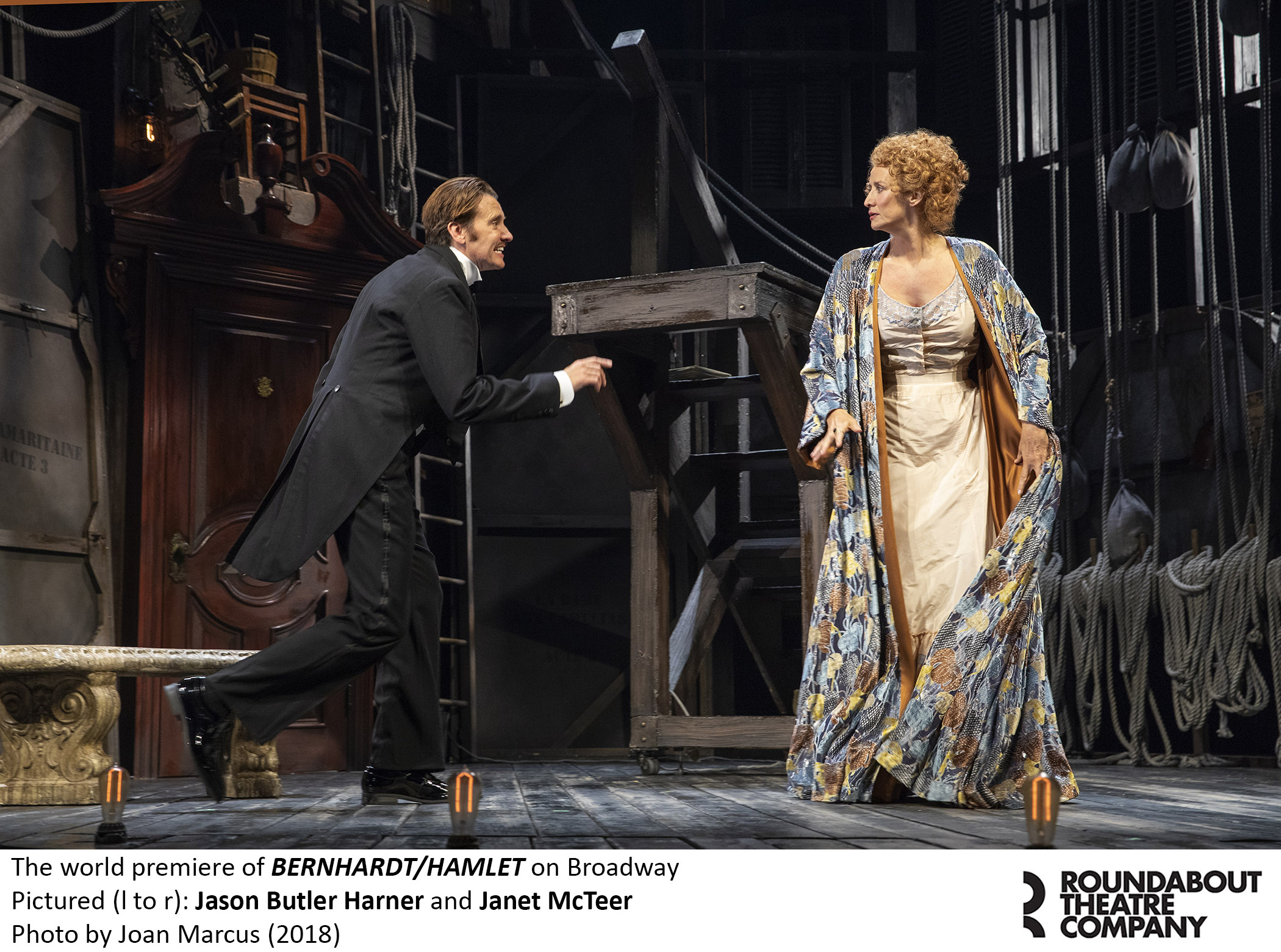 "Company Butler jason butler harner in ""bernhardt/hamlet"" on broadway 