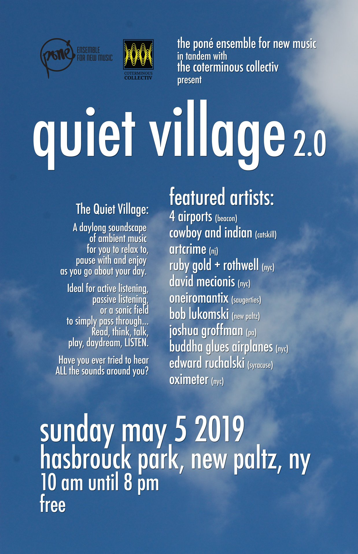 Quiet Village Event Takes Place In New Paltz Sunday | WAMC
