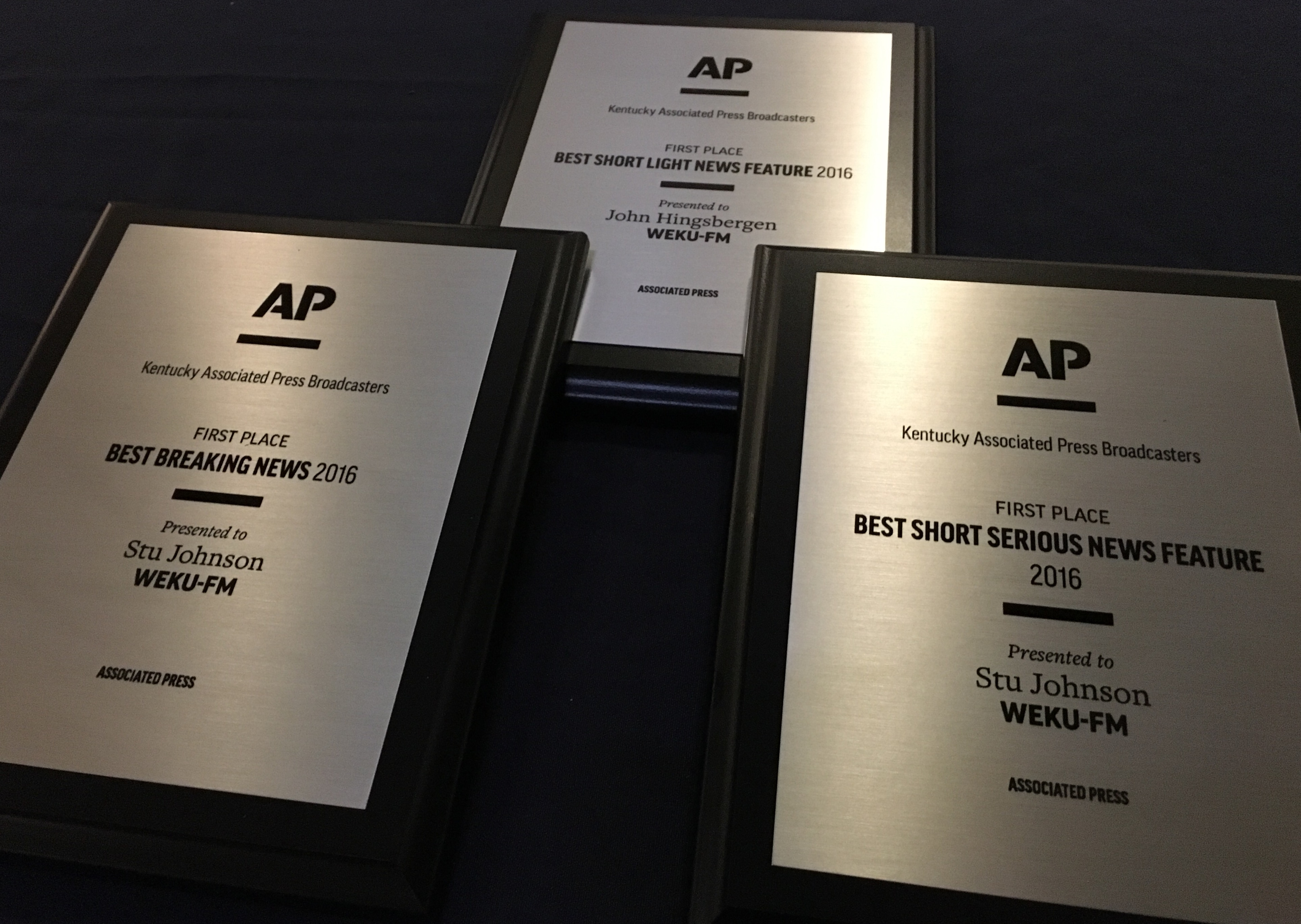 WEKU Honored With Three First Place Awards by Ky Associated