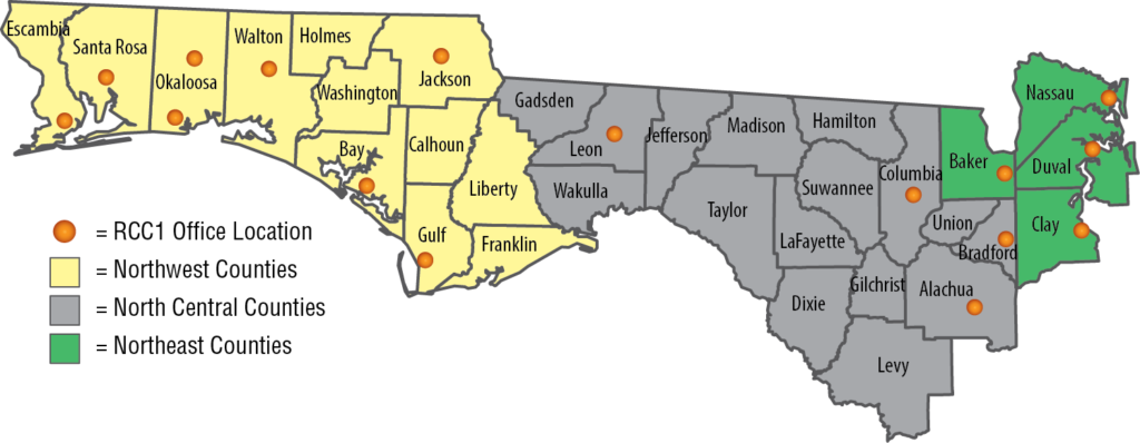 Northern Florida Map.North Florida Appropriations Project Bills For The 2019 Legislative