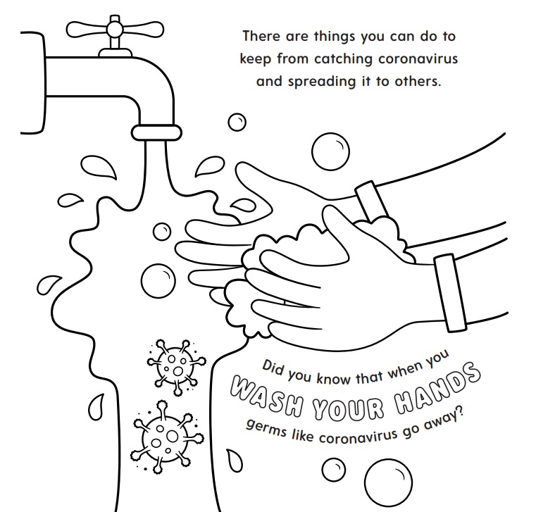 Coronavirus Resource For Parents: St. Jude Instructional Coloring Book  WMOT