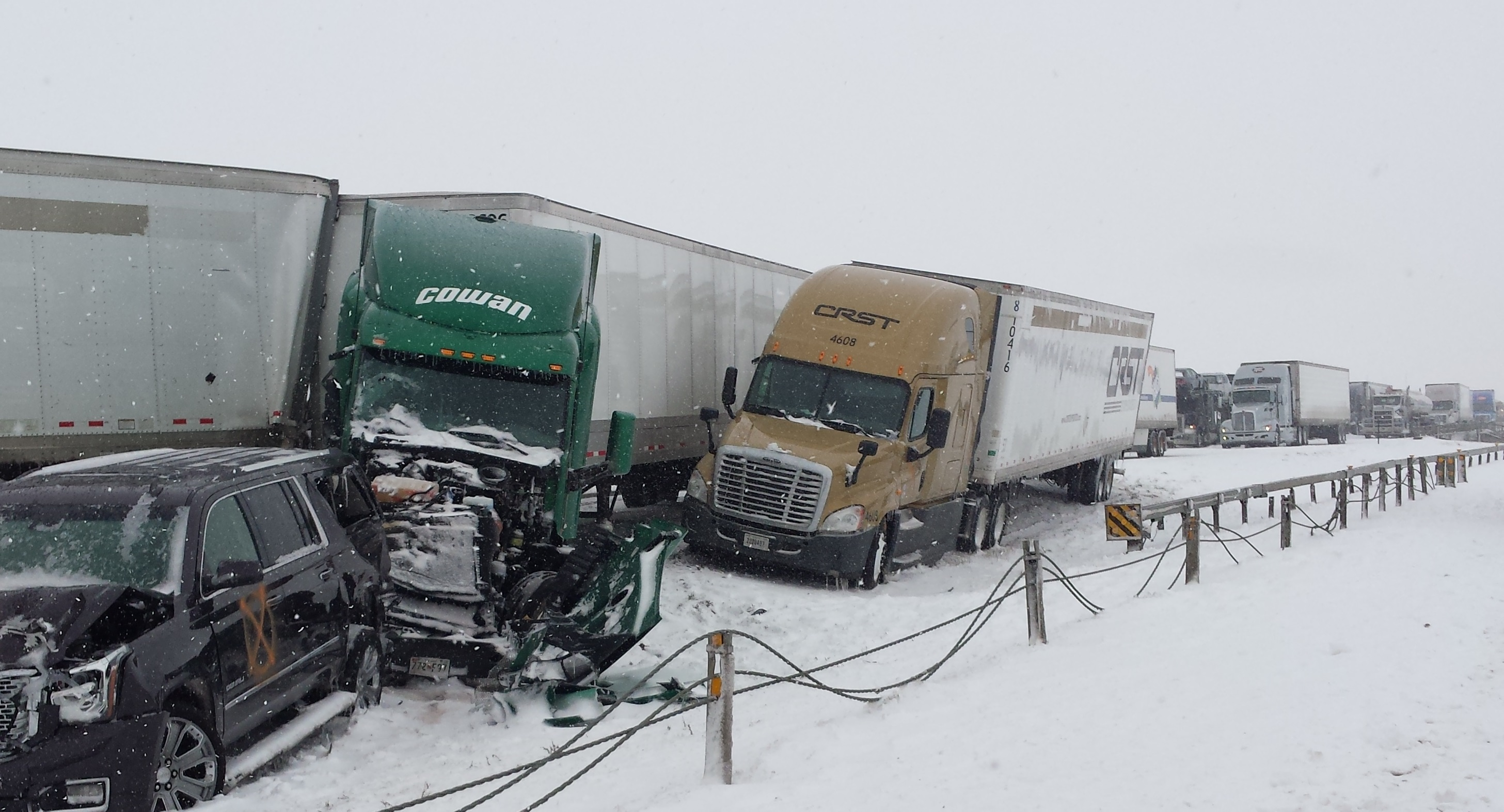 Many Injured In 45 Vehicle Pileup On Interstate 80 | Wyoming