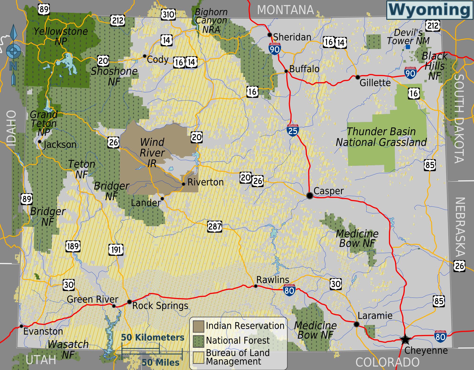 Wyoming Public Land Map DOI Leaked Strategic Plan Re Affirms Energy Priorities   Wyoming