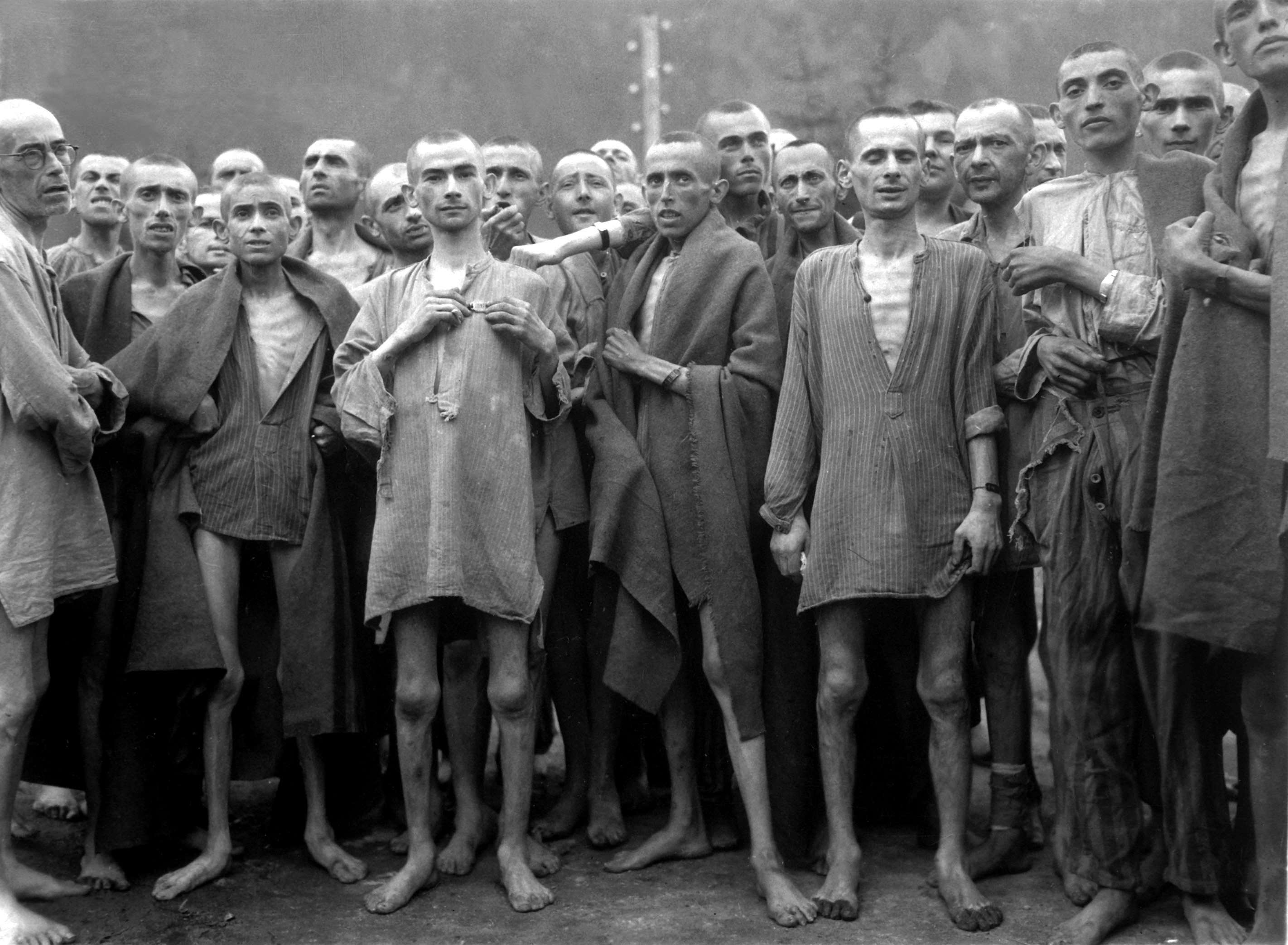 Ebensee concentration camp prisoners 1945.'