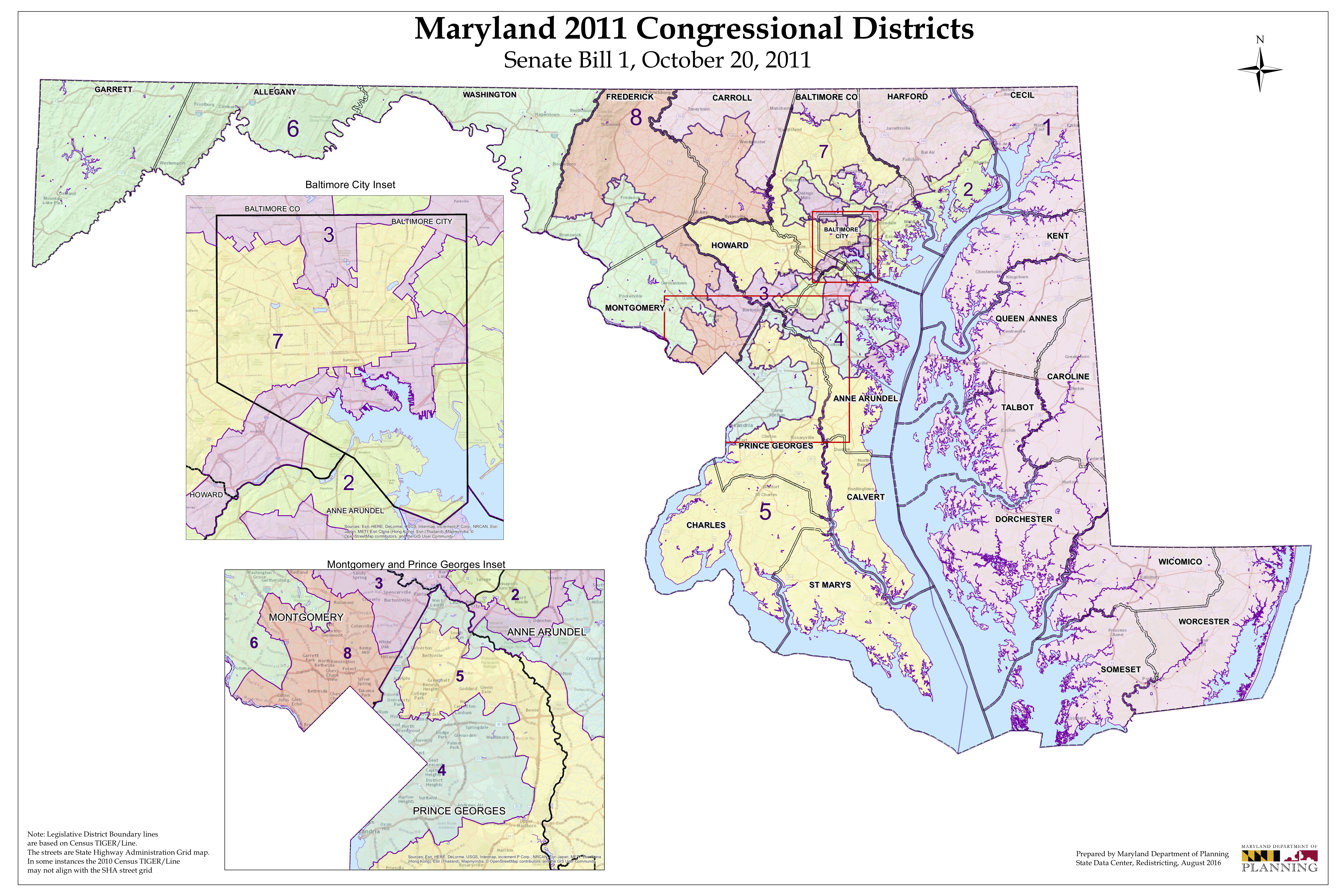 maryland senate district map Court Throws Out Maryland Congressional Districts Wypr maryland senate district map